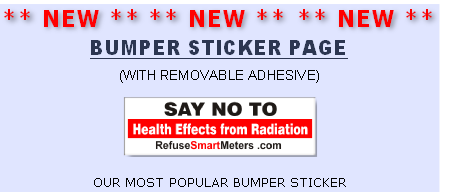 Bumper Sticker, Immediate action needed, refuse smart meter, refuse smartmeter.com